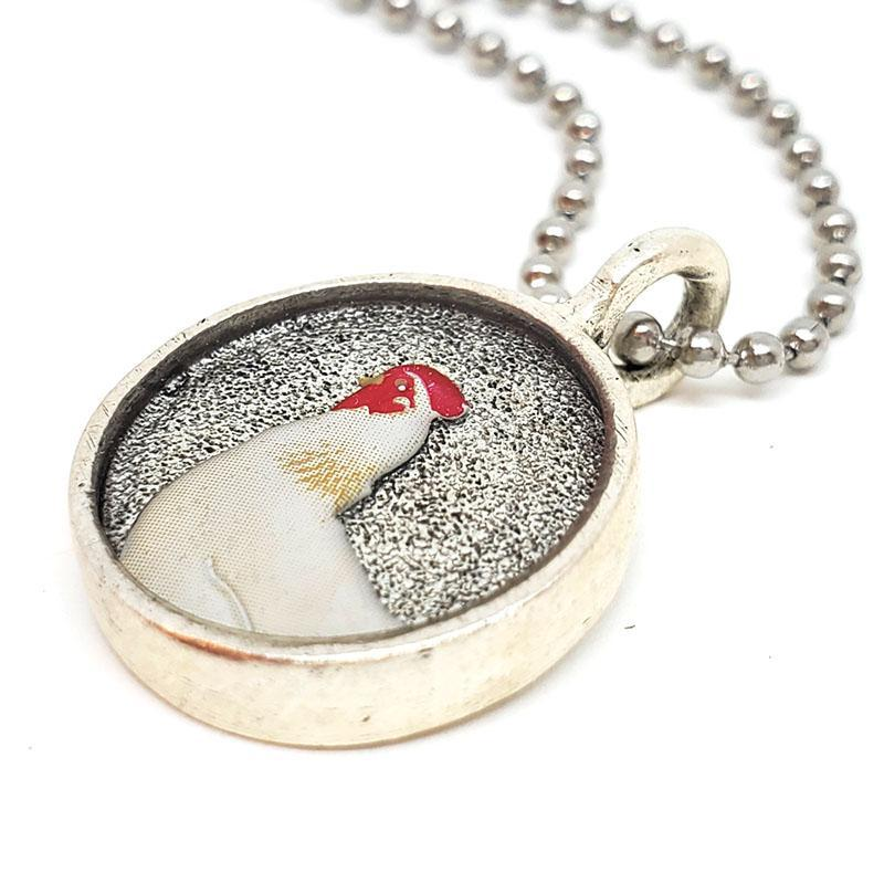Necklace - Round Chicken Pendant by XV Studios