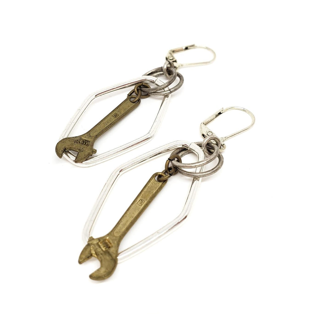 Earrings - Vintage Repurposed Wrenches by Christine Stoll Studio