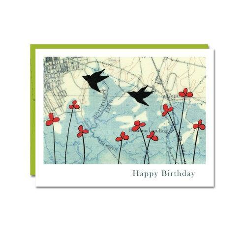 Card - Birthday - Birds by Rachel Austin Art
