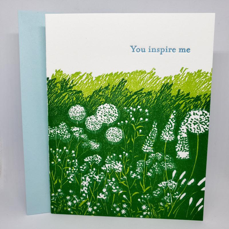 Card - Love & Friends - Meadow You Inspire Me by Ilee Papergoods