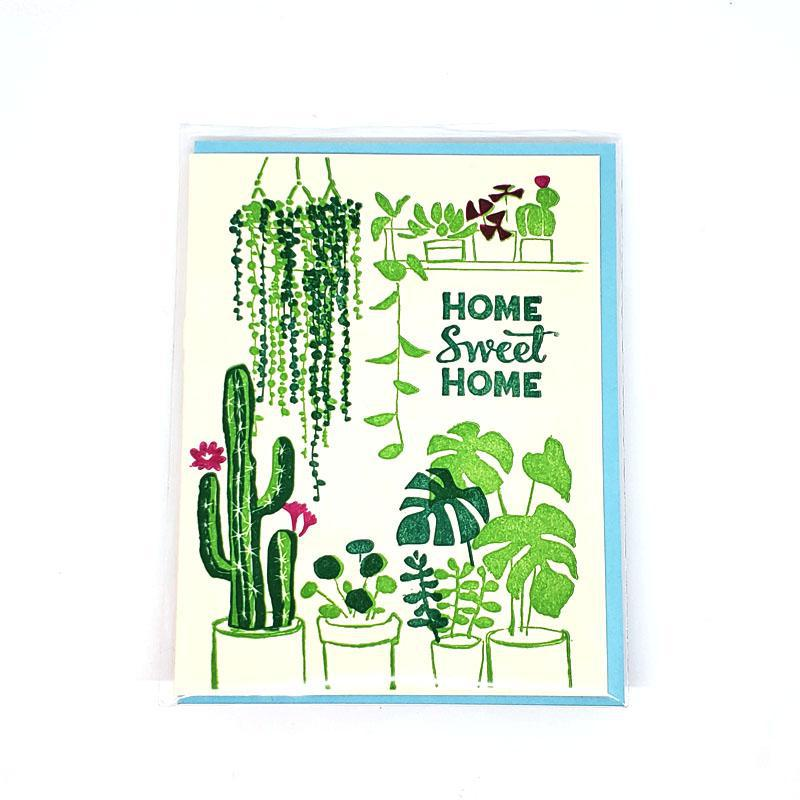 Card - Housewarming - House Plants Home Sweet Home by Ilee Papergoods
