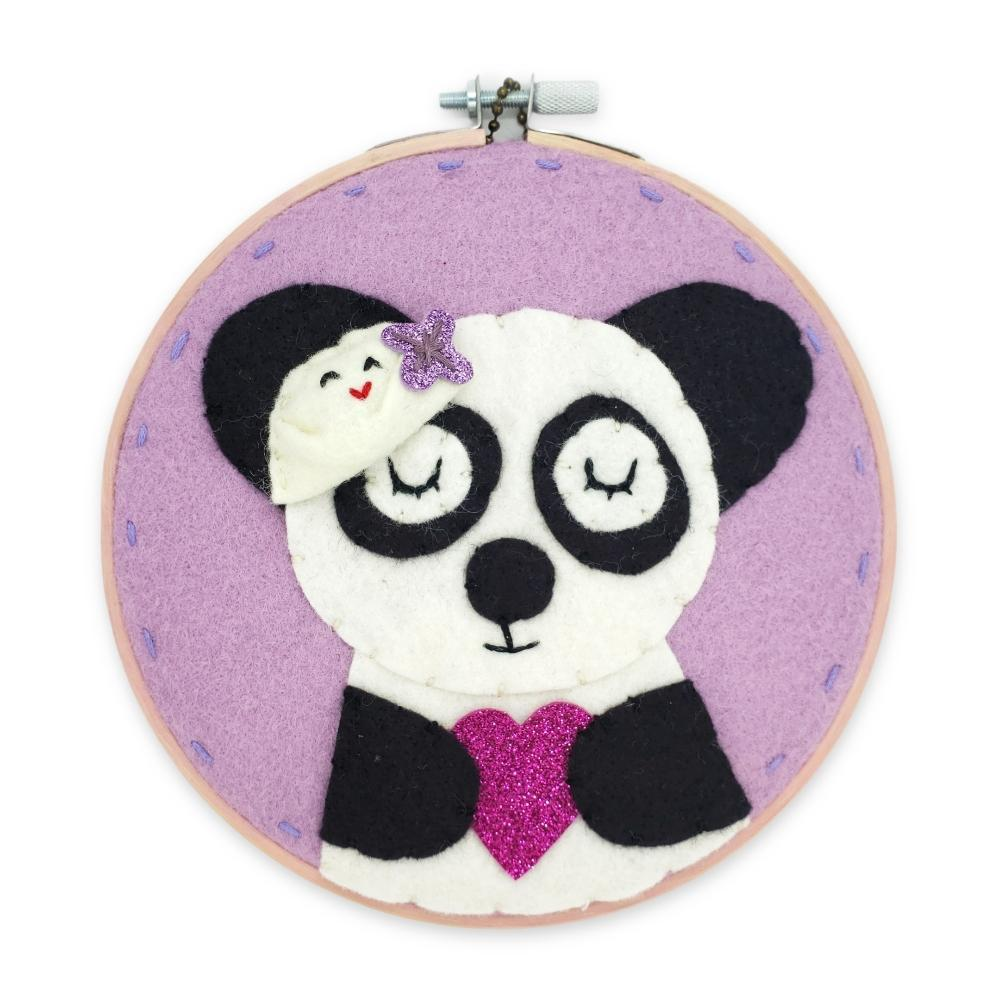 Hoop Art - Dumpling Panda 6in by Catshy Crafts