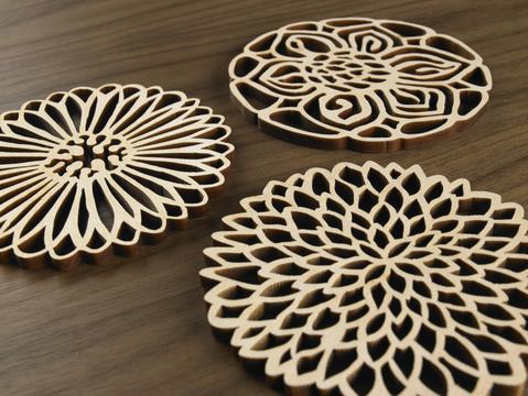 Coasters - Florals set of 6 by Five Ply Design