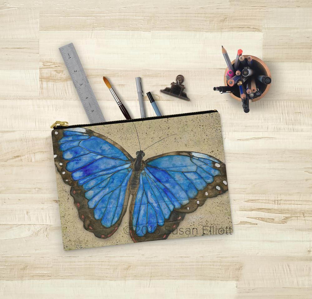 Zipper Pouch - Large - Butterfly by Neptune Creations