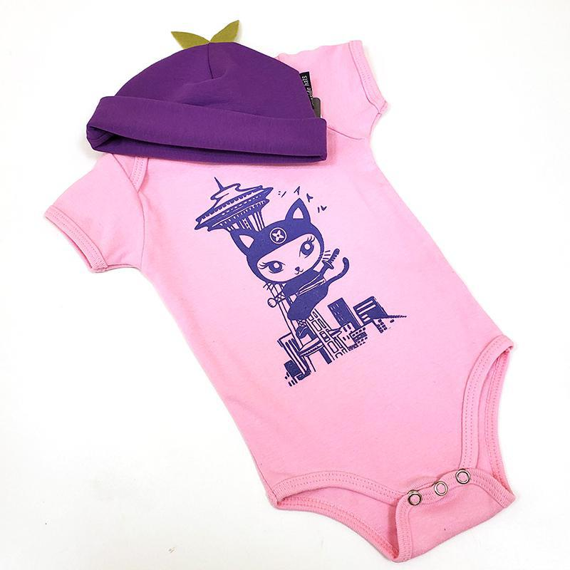 Gift Bundle - Seattle Ninja in an Purple Hat featuring Namu and Flipside Hats