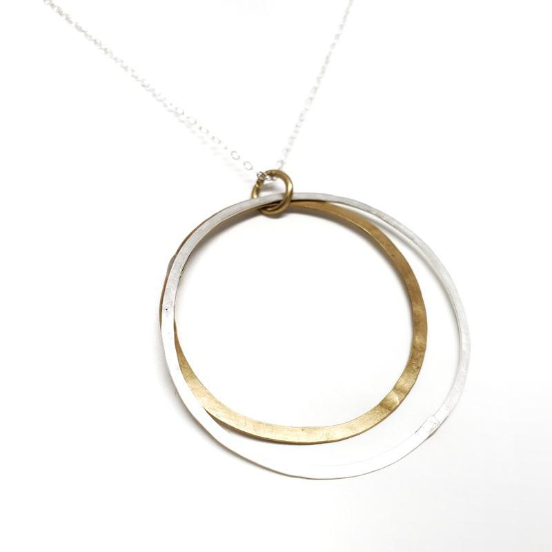 Necklace - Saturn Sterling Silver Brass by Verso