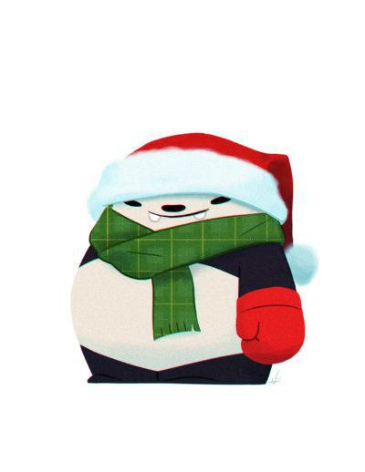 Card - Holiday - Santa Panda by Punching Pandas