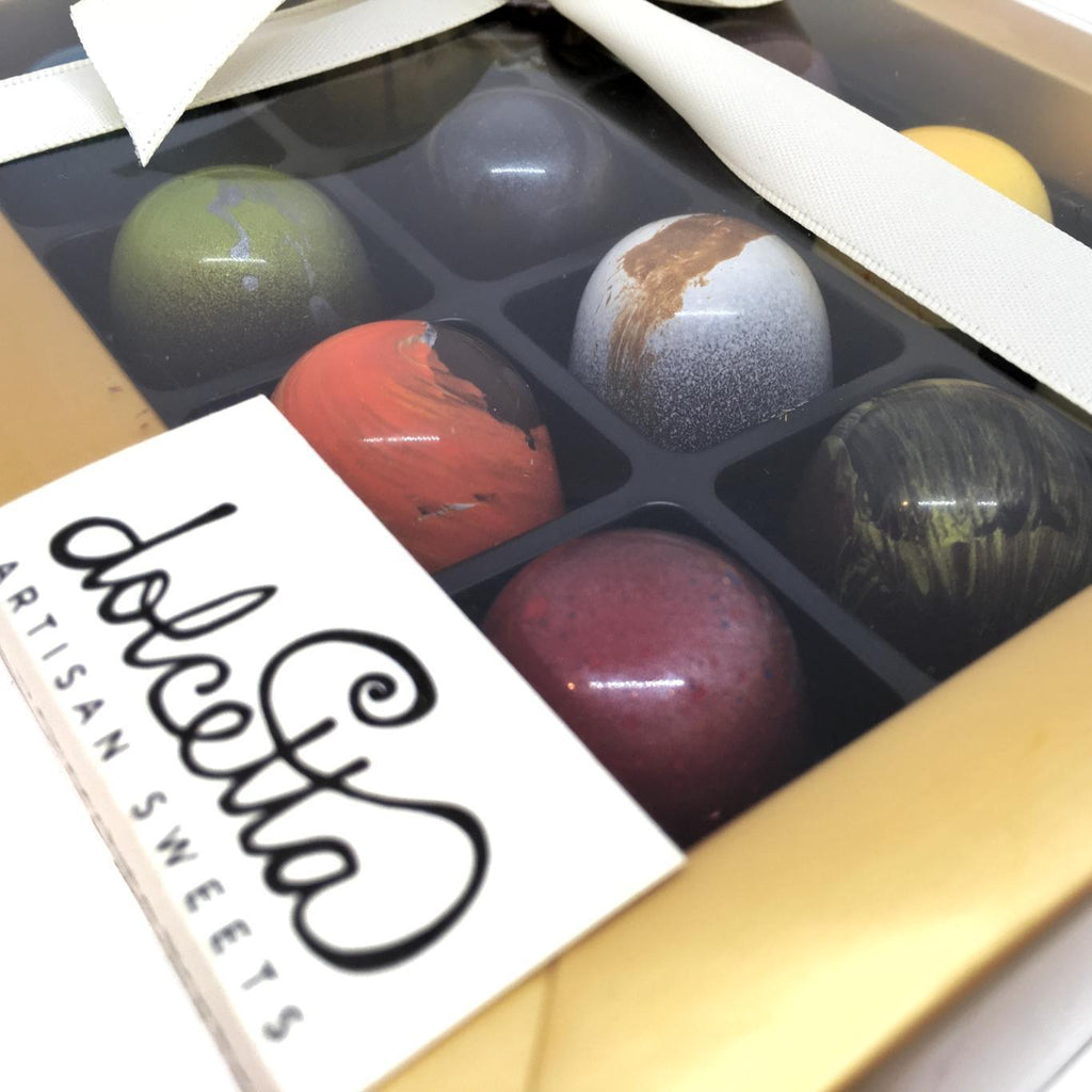 Chocolate Bonbons - Set of 12 by Dolcetta Artisan Sweets