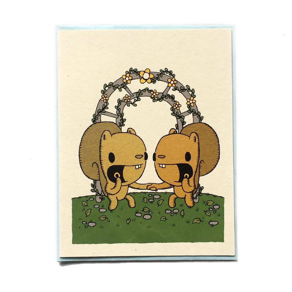 Card - Wedding - Squirrel Wedding by Everyday Balloons Print Shop