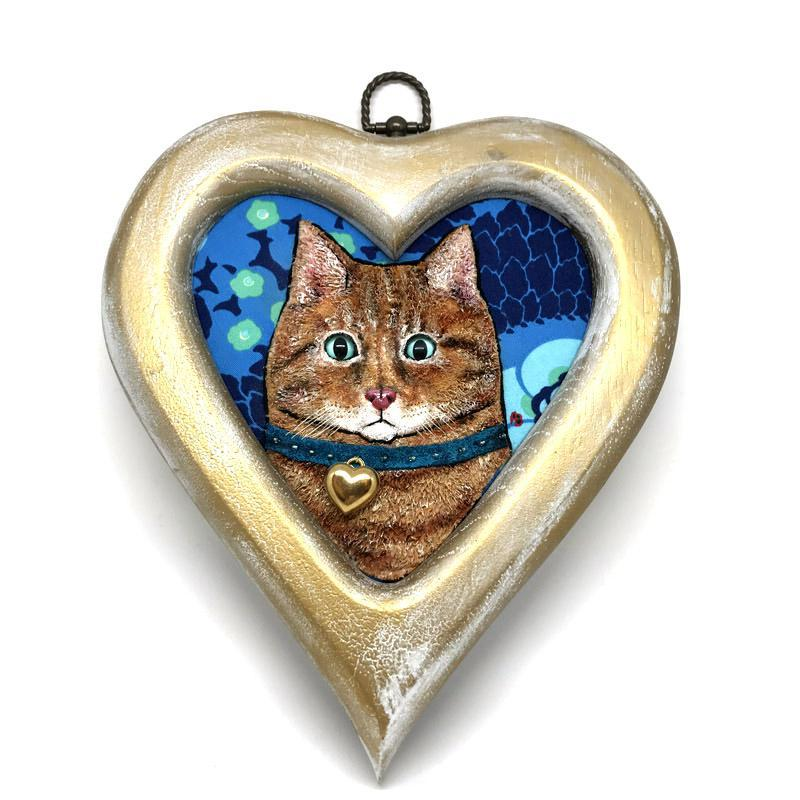 Applique Art - Kitty Heart by Alise Baker of Chubby Bunny