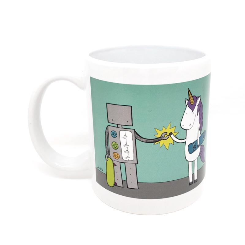 Mug - Robot & Unicorn High Five by LaRu