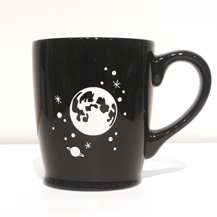 Mug - 16 oz Black Moon and Stars by Bread & Badger