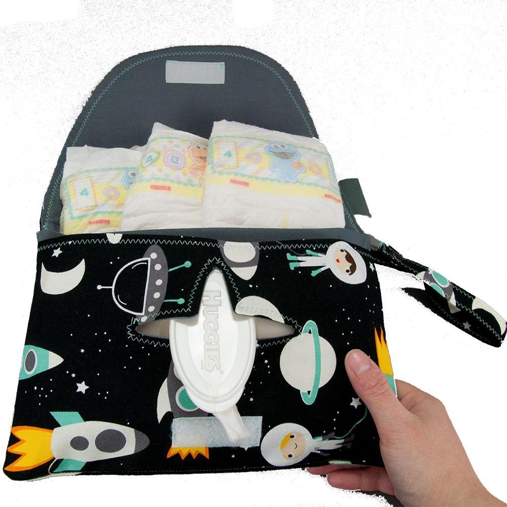 Diaper and Wipe Clutch - Space Explorers by MarshMueller
