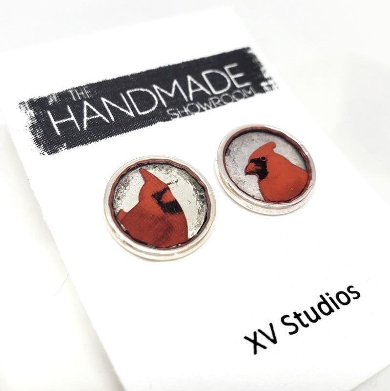 Earrings - Cardinal Studs by XV Studios