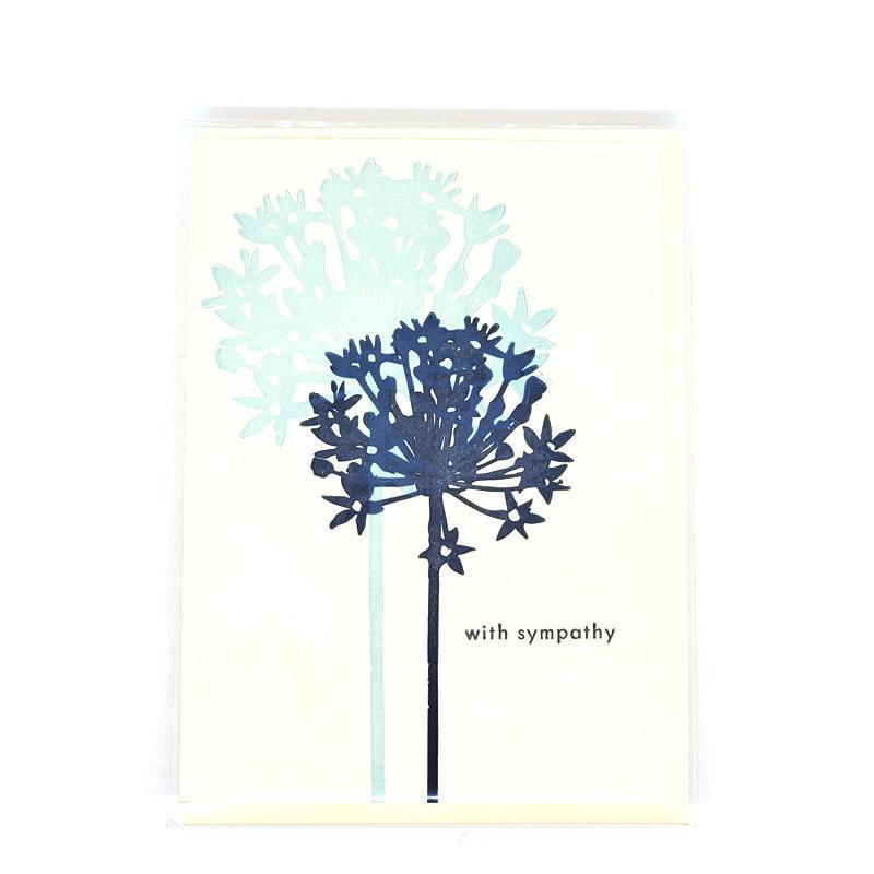 Card - Sympathy - Alliums With Sympathy by Ilee Papergoods
