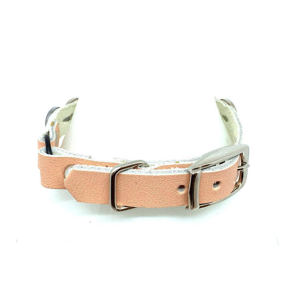 Cat Collar - Peach with Pearls by Greenbelts