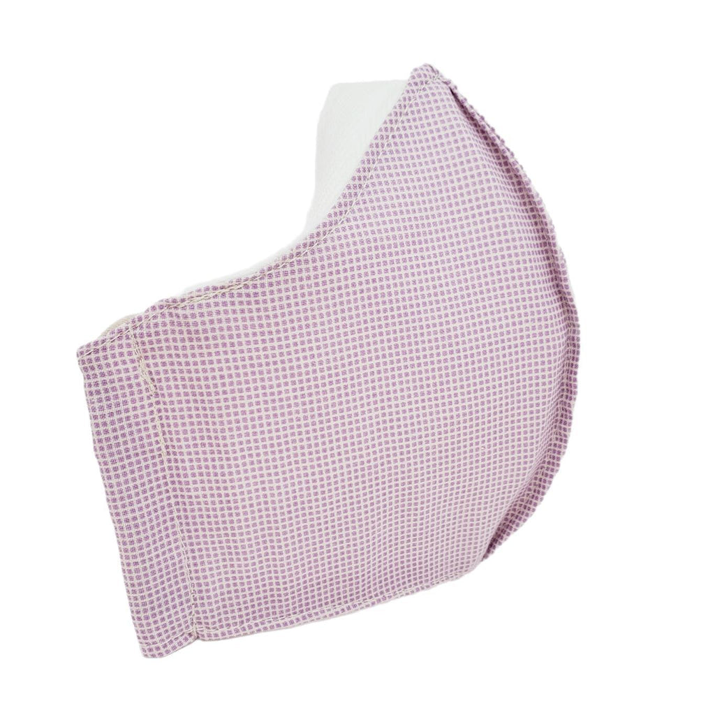 Small - Purple-ish Pink Tiny White Grid White Lining by imakecutestuff