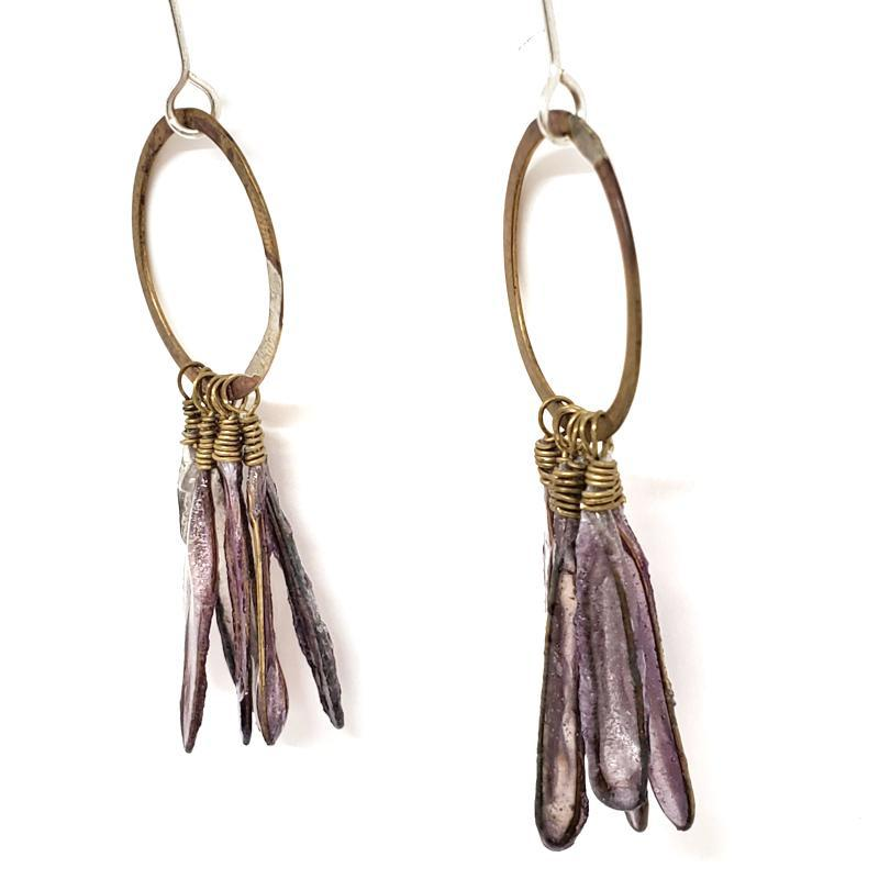 Earrings - Lavender Orchid by VERSO