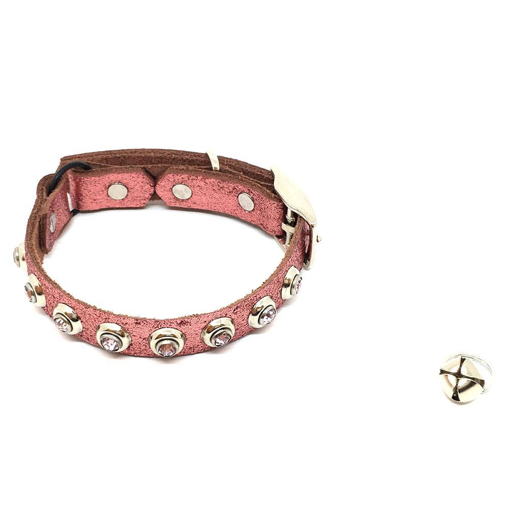 Cat Collar - Pink Glitter with Gems by Greenbelts