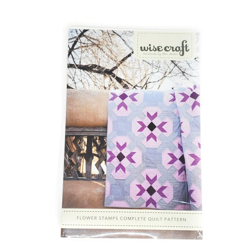 Pattern - Flower Stamps Quilt by Wise Craft