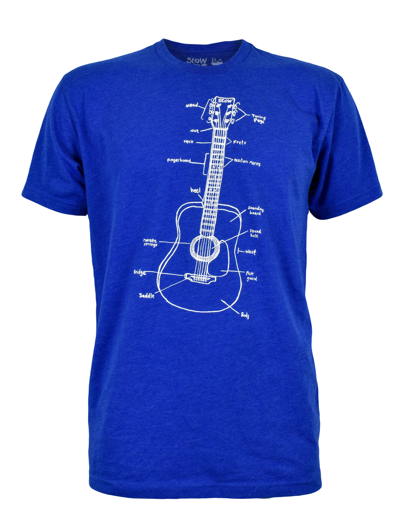 Adult GUITAR LESSONS(L) Royal Tee by Slow Loris