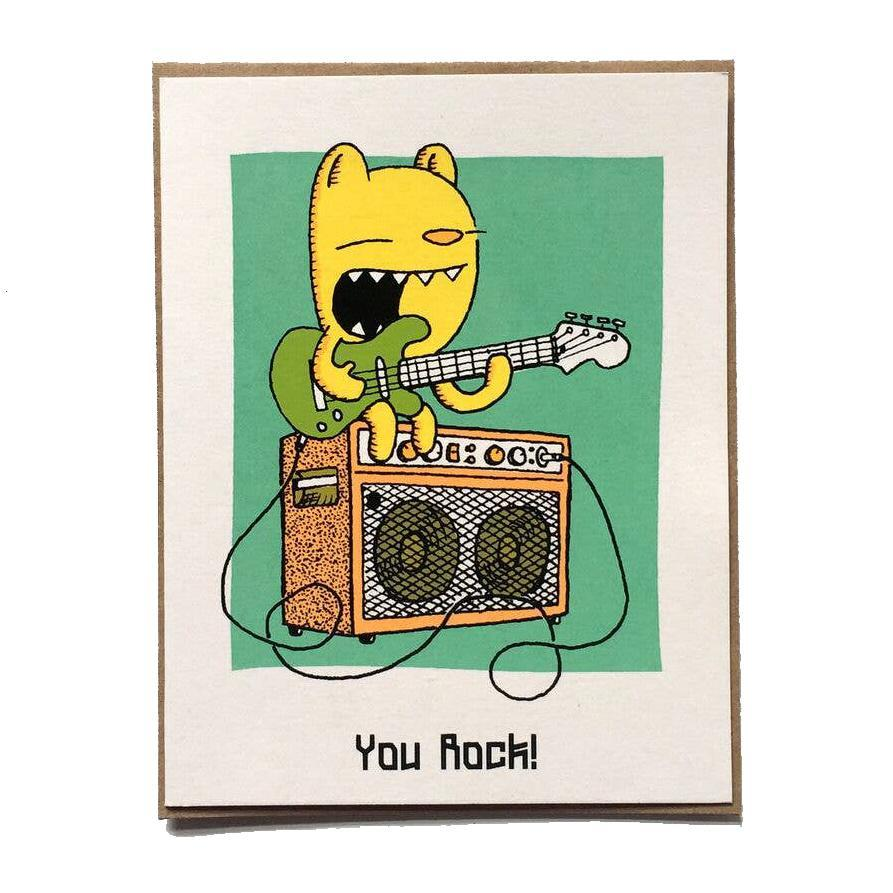 Card - You Rock by everyday balloons print shop