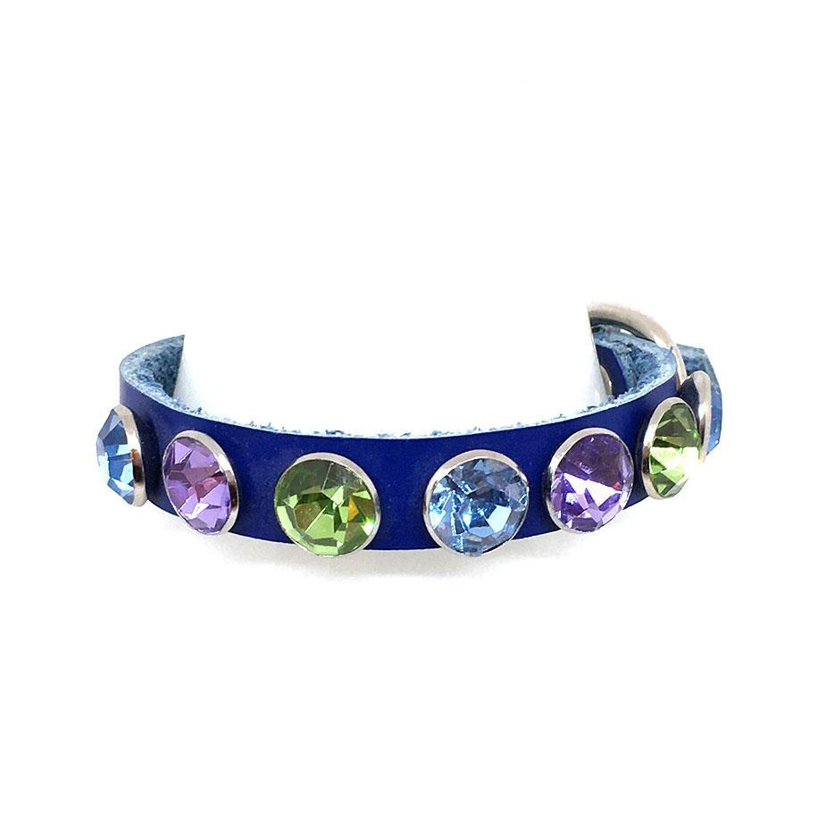 Dog Collar - Xs-Sm - Blue w/Gems by Greenbelts