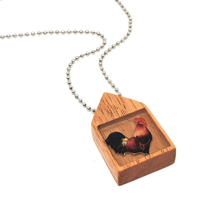 Necklace - Rooster in the Hen House Pendant by XV Studios