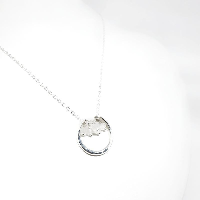 Necklace - Serena Moonstone Sterling Silver by Foamy Wader