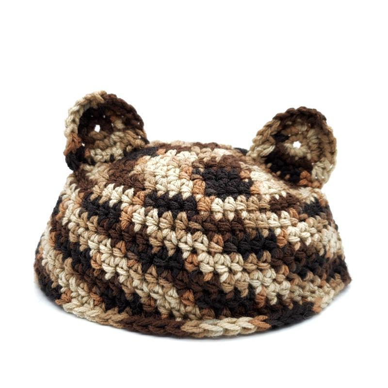 Toddler Hat - Cat Brown by Scary White Girl