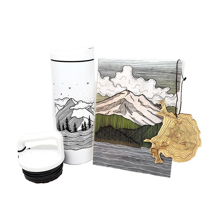 Gift Bundle - Mountain Explorer featuring Red Umbrella and Design by SML
