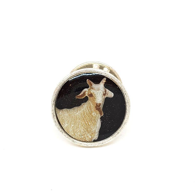 Lapel Pin - Goat (Assorted Colors) by XV Studios