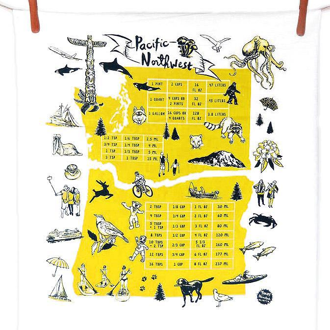 Tea Towels - Pacific NW Gold by Oliotto