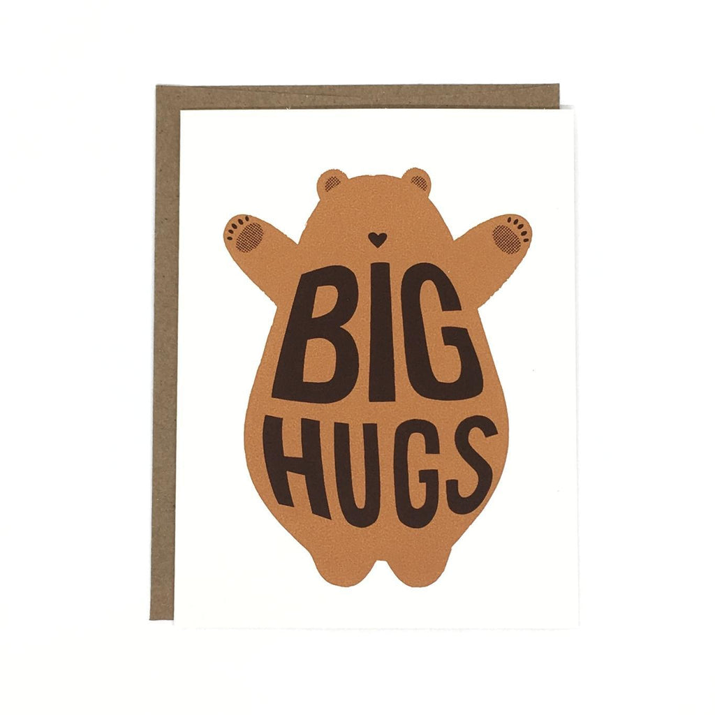 Card - Big Hugs Bear by Orange Twist
