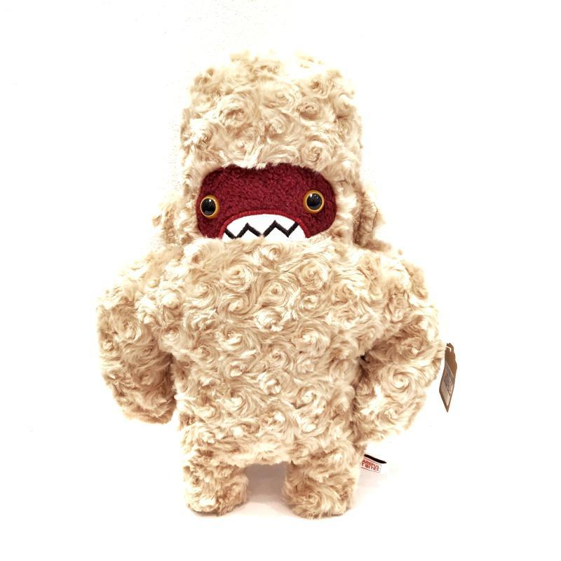 Woolly Yeti - Beige with Maroon Face and Yellow Eyes by Careful It Bites