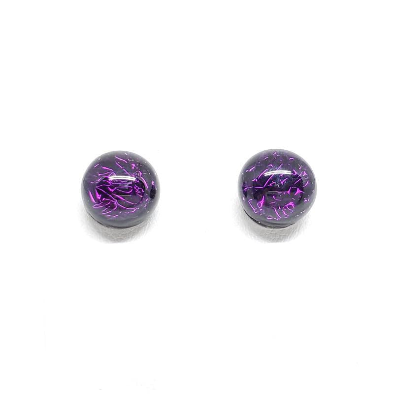 Earrings - Post Purple by Glass Elements