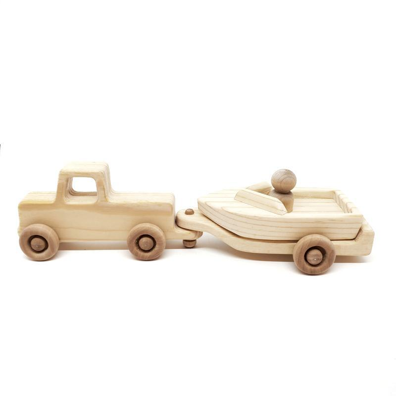 Mini - Pickup and Boat by My Grandpa's Wooden Toys