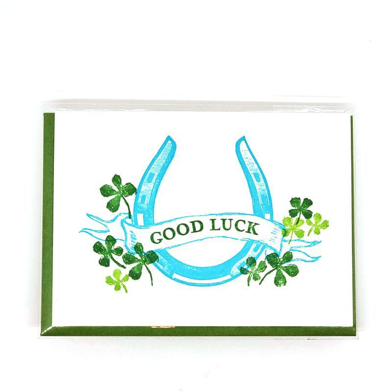 Card - Good Luck - Horseshoe Good Luck by Ilee Papergoods