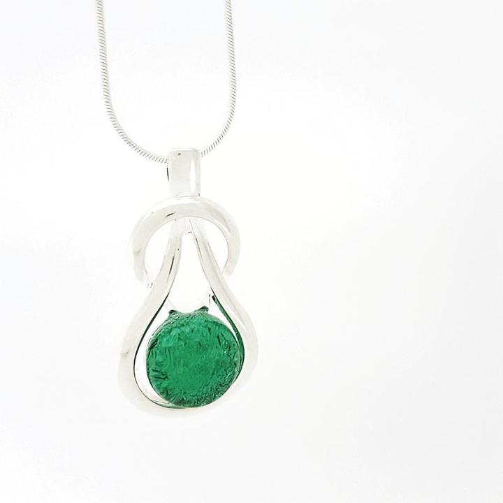 Necklace - Kelly Green Endurance by Glass Elements