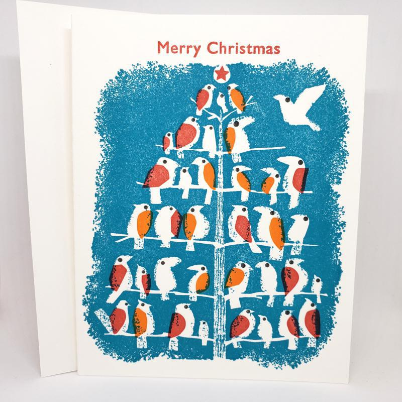 Card - Holiday - Birds Merry Christmas by Ilee Papergoods