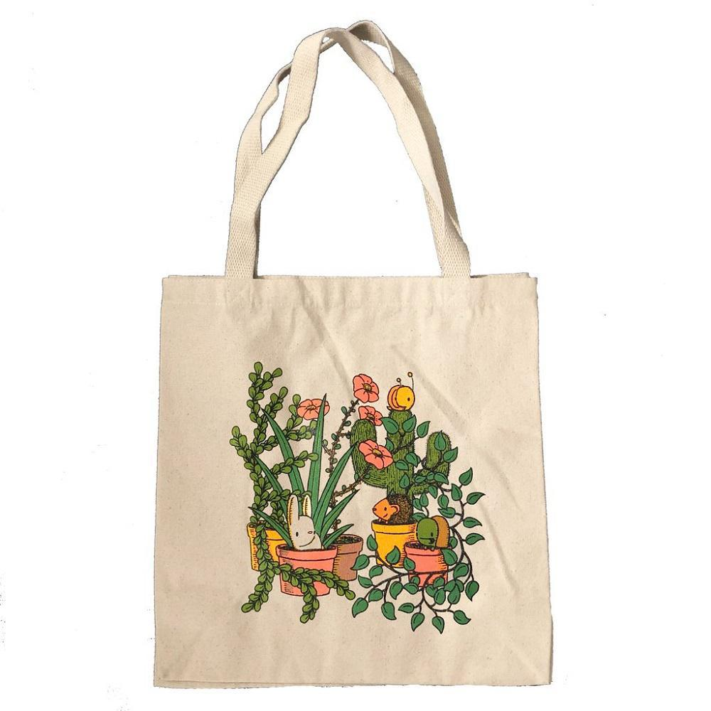 Tote Bag - Plant Friends by everyday balloons print shop