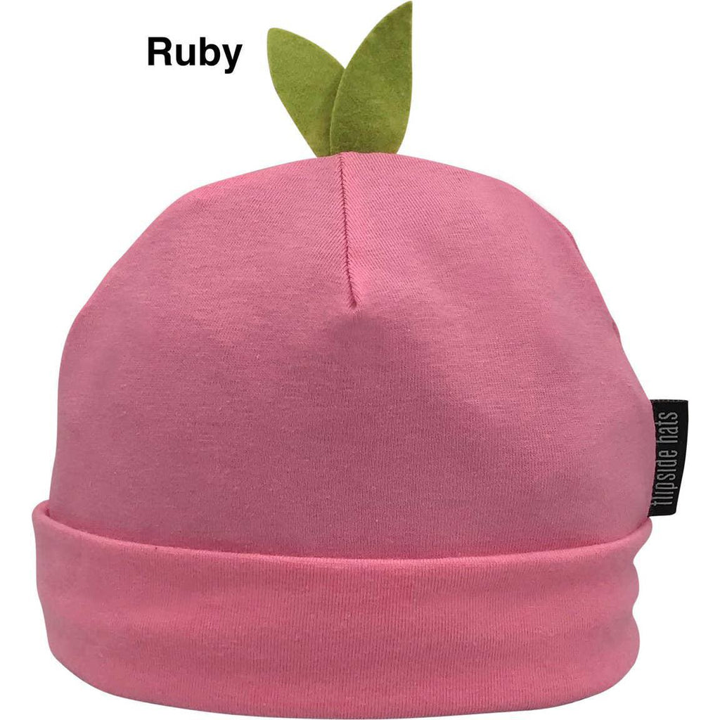 Infant Hat - Eco Sprout Beanie Ruby Pink by Flipside Hats