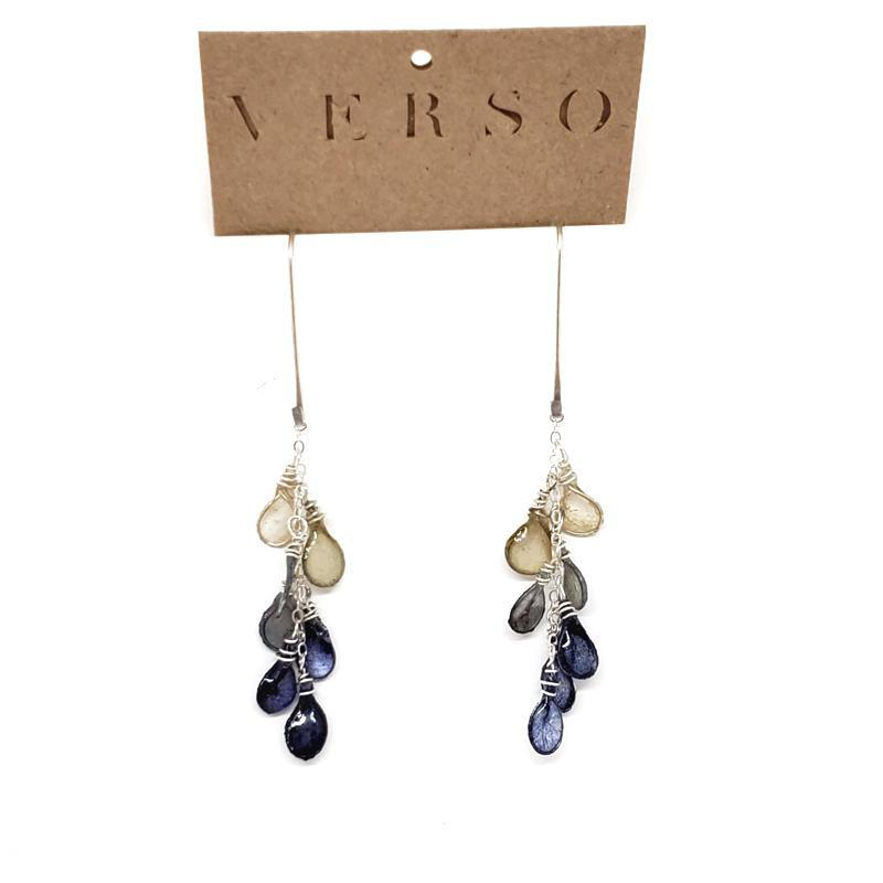 Earrings - Dewdrop Indigo Blue Ombre by VERSO