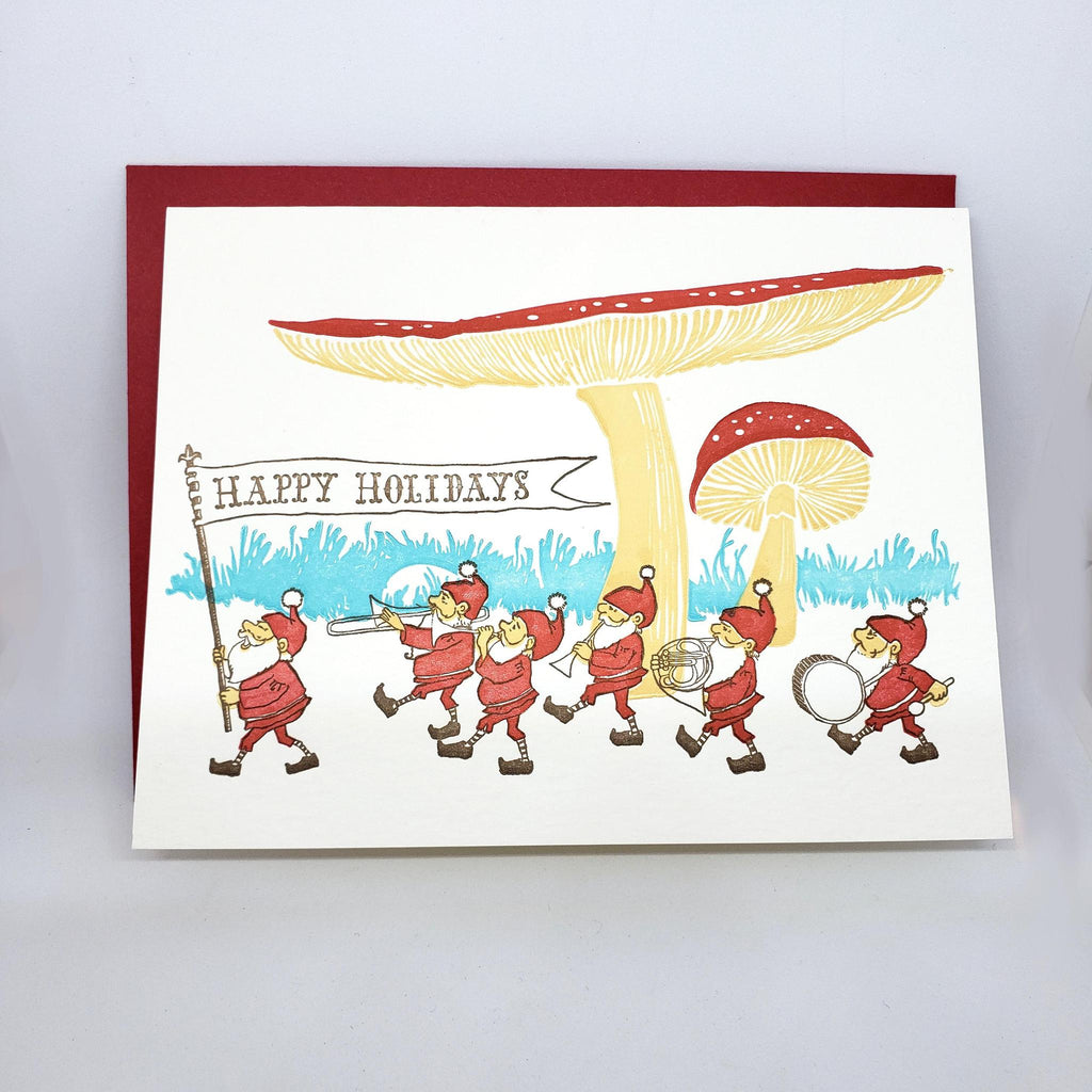 Card - Holiday - Gnomes Happy Holidays by Ilee Papergoods