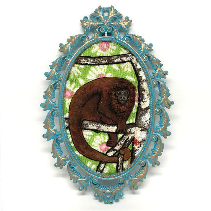Applique Art - Monkey by Alise Baker of Chubby Bunny