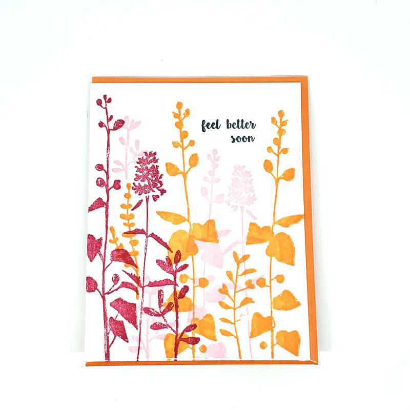 Card - Get Well - Pink Flower Feel Better Soon by Ilee Papergoods