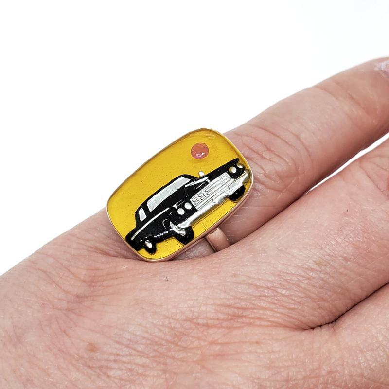 Ring - Size 8 - Ruby Baby! Black Car SS by XV Studios