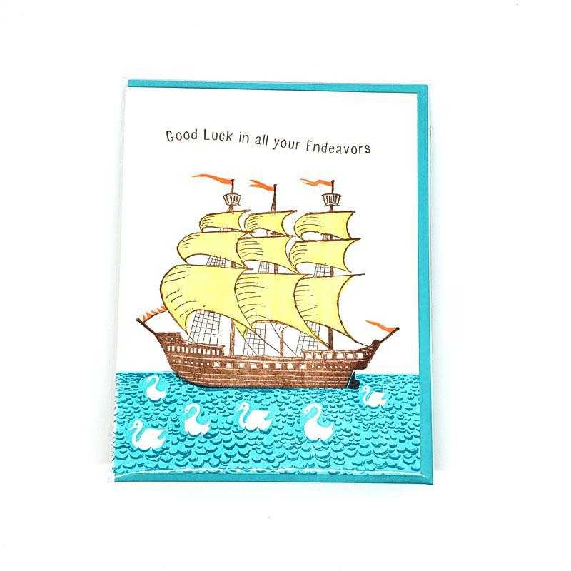 Card - Good Luck - Ship Good Luck by Ilee Papergoods