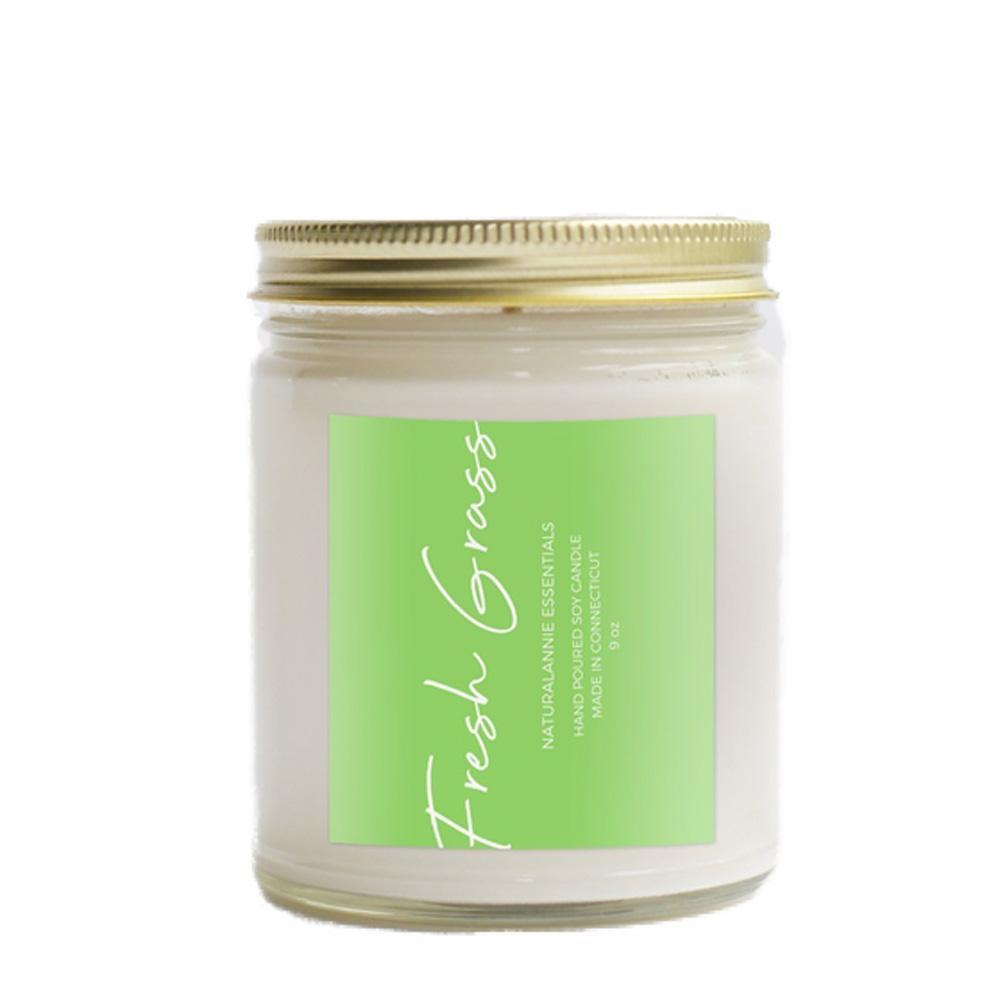 Candle 9oz - Fresh Cut Grass by NaturalAnnie Essentials