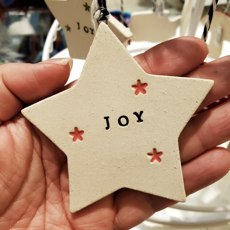 Ornaments - JOY Starry Star (4 colors) by Tasha McKelvey